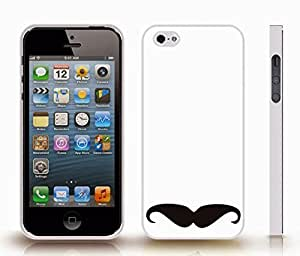 Case For Sam Sung Galaxy S4 I9500 Cover with Upside Down Mustache Simplistic Design , Snap-on Cover, Hard Carrying Case (White)