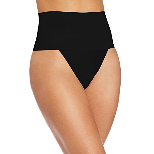 GZXISI Women Waist Cincher Girdle Tummy Slimmer Sexy Thong Panty Shapewear (X-Large, Black)