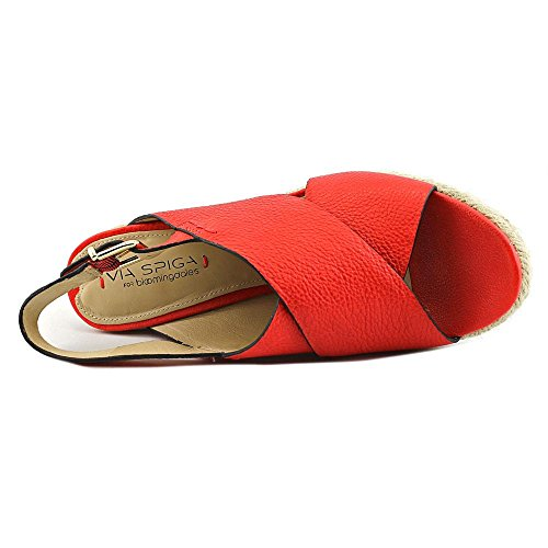 39 5 8 EU Slingback Via Esapdrille M Sandals Spiga Rosette 5 Red US vxqw1T