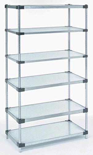 6 Galvanized Shelves - 18