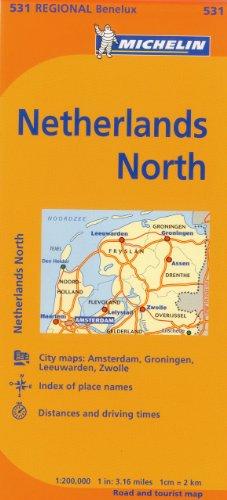 Michelin Netherlands: North Map 531 (Maps/Regional (Michelin))