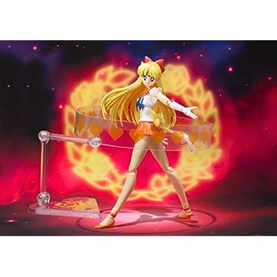 TAMASHII NATIONS Bandai Super Sailor Venus Pretty Guardian Sailor Moon Action Figure: Toys & Games