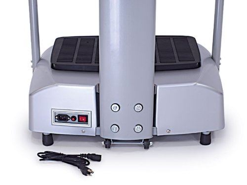 Clevr 2000w Full Body Vibration Massage Machine Platform Crazy Fit Fitness Harmonics, Silver