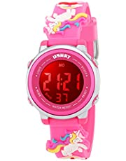 Kid Watch Multi Function 50M Waterproof Sport LED Alarm Stopwatch Digital Child Wristwatch for Boy Girl