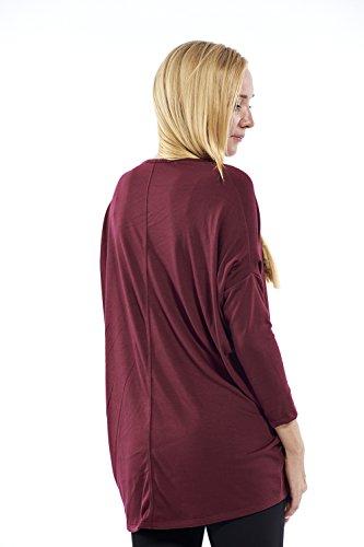 Motherway - Camisas - Túnica - Básico - Cuello redondo - para mujer borgoña