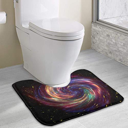 Beauregar Cassiopeia Contour Bath Rugs,U-Shaped Bath Mats,Soft Memory Foam Bathroom Carpet,Nonslip Toilet Floor Mat 19.2″x15.7″