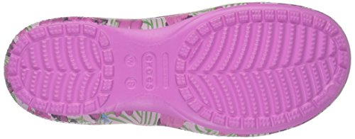 crocs Damen Fsailgrphclgw Clogs Pink (Pink/Floral)