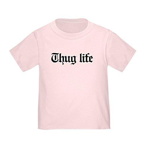 CafePress - Thug Life, Gangster, Baby, g, Thug Toddler T-Shirt - Cute Toddler T-Shirt, 100% Cotton Pink ()