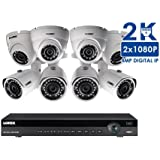 Lorex 4K IP 16 Channel 3TB NVR Security Camera System with 8 4MP HD IP Cameras