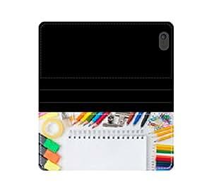 Compatible con diseño en blanco Funda de piel con tapa y tarjetero para lápices de colour con ranuras para tarjetas y compartimento para billetes iPhone 4 4S 5 5S 6 6S/Samsung S3 S4 S5