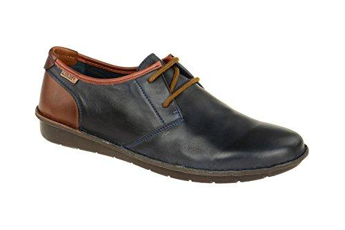 Pikolinos Hombres Santiago M7b-4023c3 Zapatos De Cuero Azul Marino