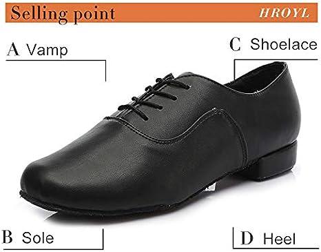 Fxhan Men Boys Ballroom Dancing Shoes Latin Tango Leather Dance Shoes