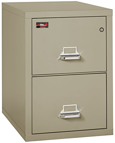 Fireking Fireproof 2 Hour Rated Vertical File Cabinet (2 Letter Sized Drawers, Impact Resistant, Waterproof), 29.9'' H x 19'' W x 31.19'' D, Parchment by FireKing