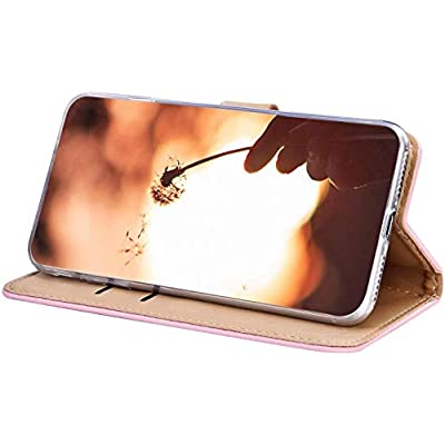 IKASEFU Compatible with iphone 6 Plus/6S Plus Case Soft Pu Leather Glitter Hollow out Leaf Style Wallet Strap Case Card Slots Shockproof Magnetic Flip Stand Protective Bumper Cover Case Pink: Musical Instruments