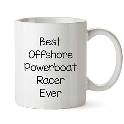 (Idakoos Best Offshore Powerboat Racer ever Mug 11 ounces)