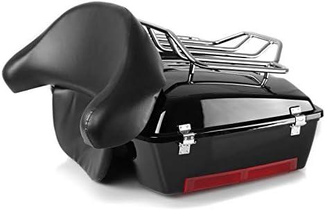 Topcase Chopped-2 f/ür Kawasaki VN 900 Classic//Custom//Light Tourer mit Gep/äck-Grill schwarz