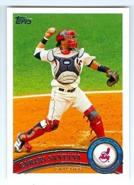 Carlos Santana Baseball Card Cleveland Indians 2011 Topps 209