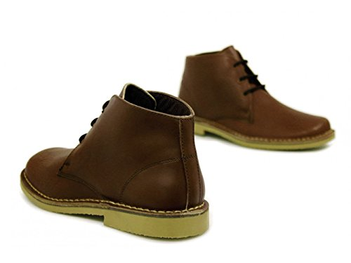 Roamer Classic waxy leather Desert boots.Brown. O48bpPw