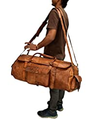 Urban Dezire Large Leather 24 Duffel Travel Gym Overnight Weekend Bag