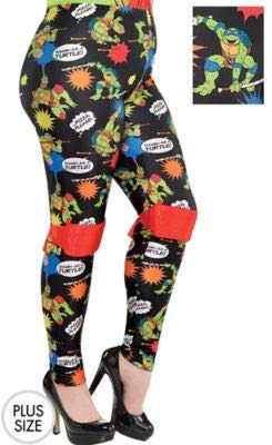Amscan Teenage Mutant Ninja Turtles Leggings for Women, Halloween Costume Accessories, Plus Size for $<!--$19.99-->