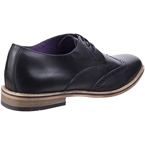 Lambretta Mens Franky Brogue King Lace Up Brogue Oxford Smart Shoes Black