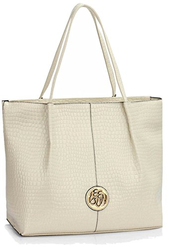 Cream DELIVERY SAVE Shoulder Gorgeous Bag UK 50 Snake Effect FREE p0Ad8