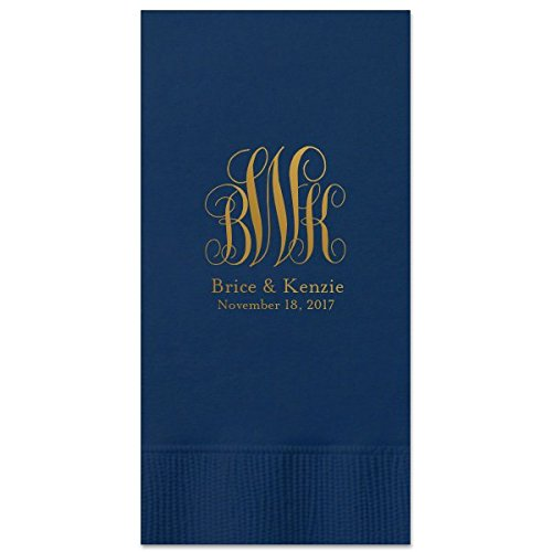 Wedding Guest Towels Personalized Party Dinner Napkins with monogram Beverage Bathroom Towel 29 ()