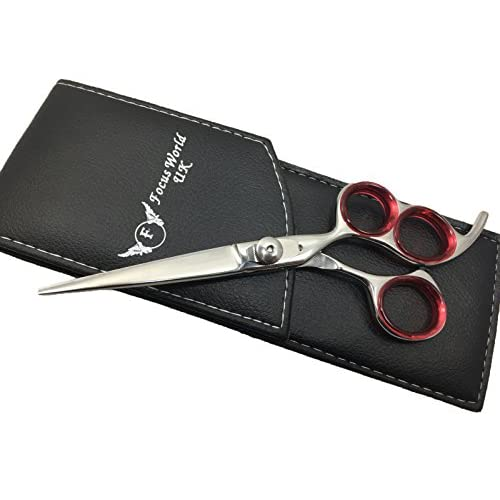 "focusworld®-Salones de tijera de corte de pelo tijeras peluquería profesional Peluquería Peluquería 6,5, ""con bolsa de calidad de centro mundo, muy intensa convexa cuchillas"