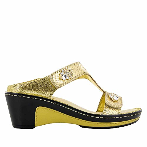 Alegria Women's Lara Golden Unity Wedge Sandals 36 (US Women's 6-6.5) by Alegria