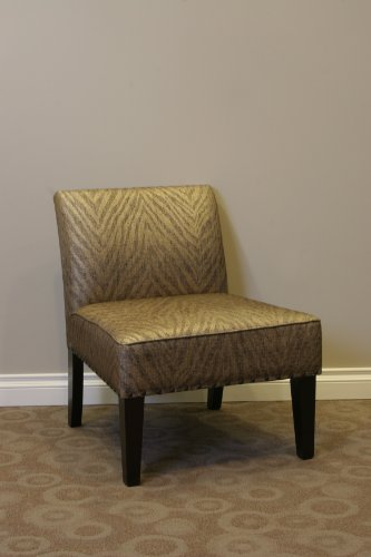 4D Concepts Belinda Accent Chair in Metallic Woven Linen by 4D Concepts