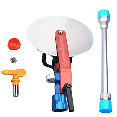 "Jinwen 120025 Spray Guide Accessory Tool For All Airless Paint Sprayer 7/8"" w/ 517 Tip With 10 Inch Extension Pole"
