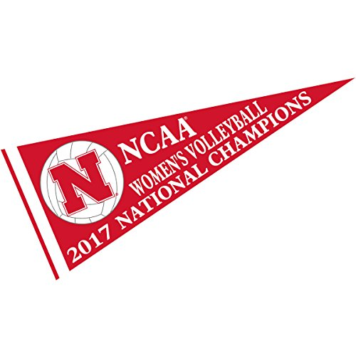 (College Flags and Banners Co. Nebraska Cornhuskers 2017 Women's Volleyball National Champions Pennant)
