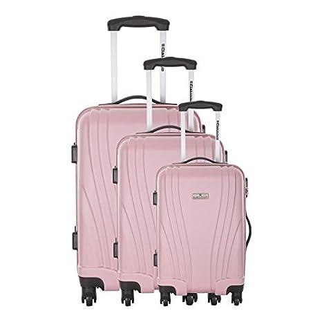 PLATINIUM-PLATINIUM-Juego de 3 maletas ABS Harrow 4 ruedas ...