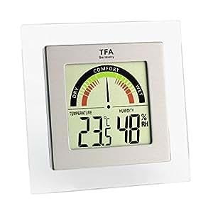 TFA Dostmann 30.5023 - Termómetro / hidrógrafo digital con indicador de zona de confort