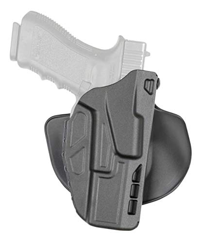Safariland 7378 7TS ALS Concealment Paddle & Belt Slide Holster, Sig Sauer P320 Compact 9mm, .40, .45, Left Hand, SafariSeven Plain Black