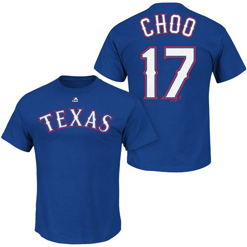 Majestic Authentic MLB Texas Rangers Choo, Shin-Soo #17 Player Team T-Shirt Shirt Size: S (Rangers Choo Tshirt Texas)