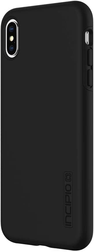 """Incipio DualPro Dual Layer Case for iPhone XS Max (6.5"""") with Hybrid Shock-Absorbing Drop Protection - Black"""