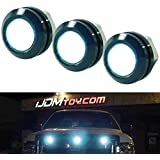 iJDMTOY SVT Raptor Style Aqua LED Grille Lighting Kit Universal Fit Compatible With Truck or SUV, 3-Piece High Power Aqua Blue Grill Marker Light Set