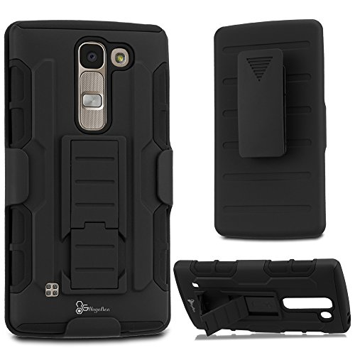 LG Escape 2 Case, LG Spirit 4G LTE Case, LG Logos Case, NageBee [Heavy Duty] Armor Shock Proof Dual Layer [Swivel Belt Clip] Holster with [Kickstand] Combo Rugged Case - (Spirit Phone)