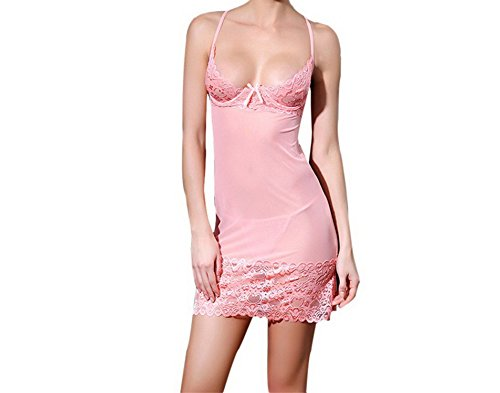 [Germo.jin Sexy Sexy Lingerie Dress, Women Strap Bustier Crop Top Underwear Jumpsuit Dress (Free, Watermelon] (Amy Pond Costume)