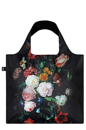 (LOQI Museum Jan Davidsz de Heem's Still Life with Flowers in a Glass Vase Reusable Shopping Bag, Multicolored)