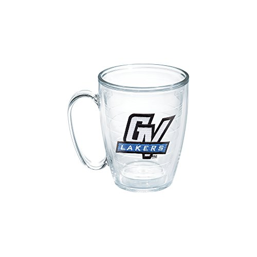 Valley University State Grand - Tervis 1050309 Grand Valley State University Emblem Individual Mug, 16 oz, Clear