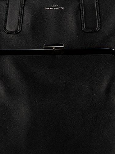 Desa Unique Femme Main Taille Noir Noir à Sac pour vxrTqBUvw
