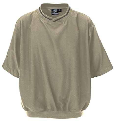 Akwa Men's Short Sleeve Pullover Windshirt Made in USA