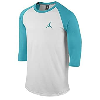Jordan by Nike Men's Core 3/4 Sleeve Raglan Shirt (Medium)