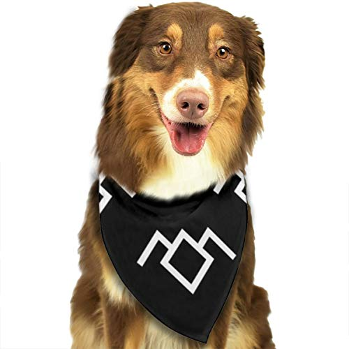 OURFASHION Twin Peaks Owl Petroglyph Bandana Triangle Bibs Scarfs Accessories for Pet Cats and Puppies.Size is About 27.6x11.8 Inches (70x30cm). -