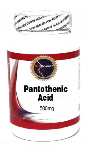 Pantothenic Acid 500mg 100 Capsules # BioPower Nutrition