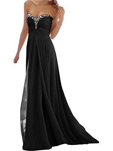 de Mujer Tirantes A Vestido de Vestido Negro Gasa Partido Dama Line Sin de Honor Vestido Noche Elegante Fiesta Vestido la JAEDEN de de Largo UwCqFF