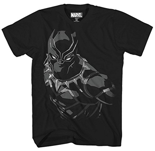(Mad Engine Marvel Black Panther Boys' Panther Creep Tee, Black)