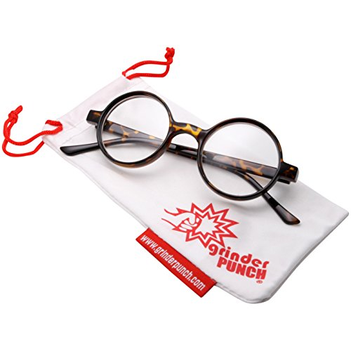 grinderPUNCH Adult Size Wizard Glasses Clear Lens Costume (Scream Costume Brown)